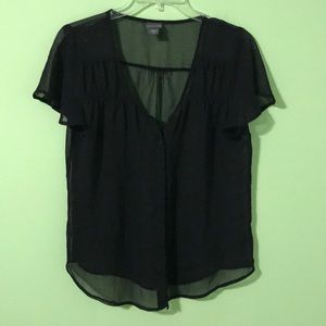 Covington Sheer Black Blouse